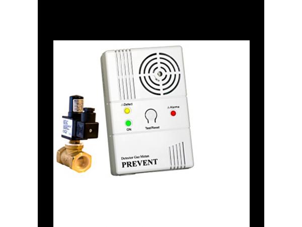 Detector de gaz metan Prevent 1279 cu electrovalva de 3/4, echipament complet