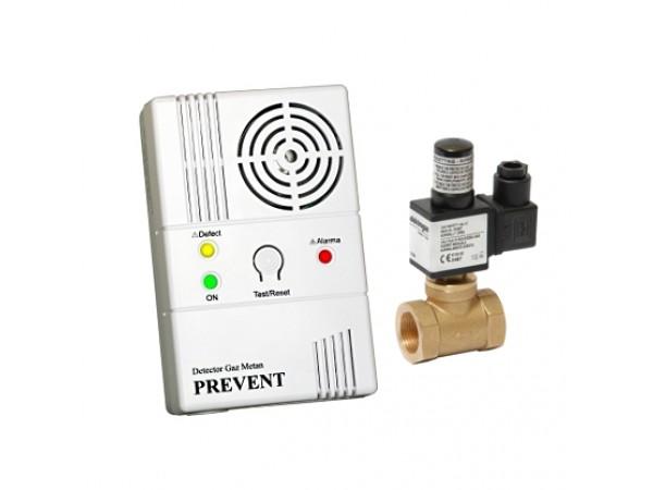 Detector de gaz metan Prevent 1279 cu electrovalva de 1/2, echipament complet