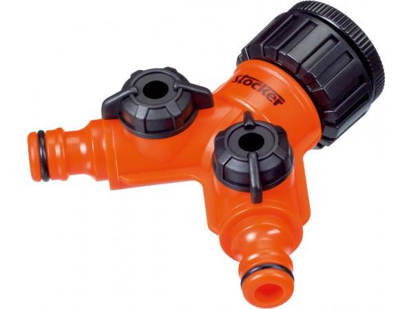 Conector robinet cu 2 iesiri