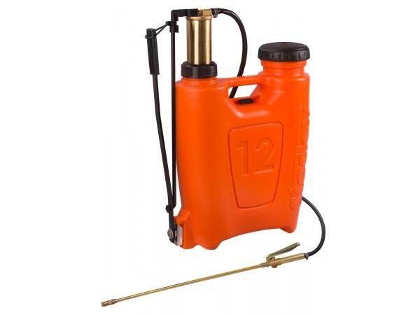 Pompa manuala de presiune, tip rucsac 12 litri, cu piston si lance din bronz