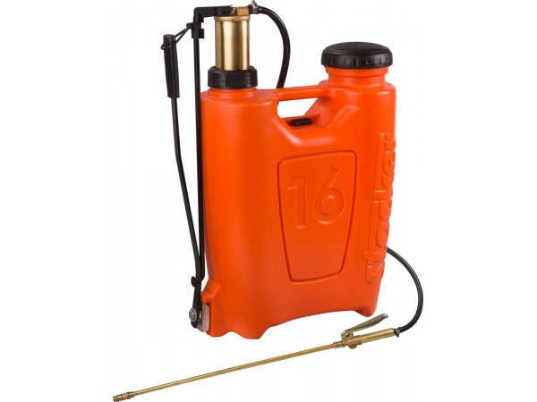 Pompa manuala de presiune, tip rucsac 16 litri, cu piston si lance din bronz
