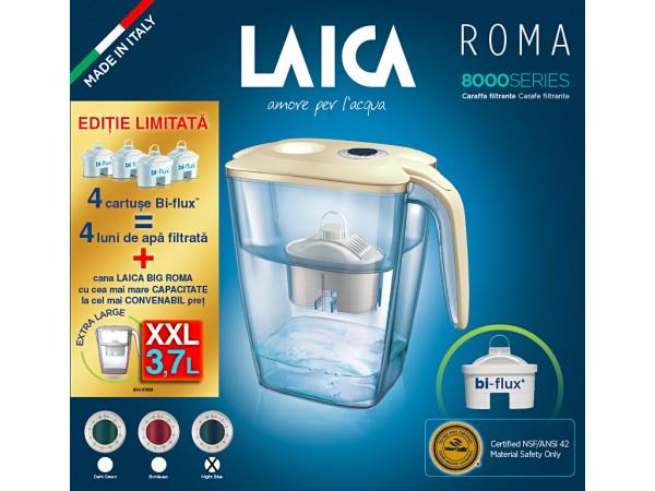 Pachet cana filtranta Laica BIG Roma si 4 cartuse