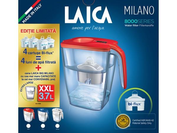 Pachet cana filtranta Laica BIG Milano si 4 cartuse