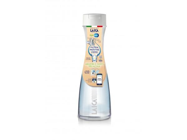 Carafa filtranta de apa Laica GlaSSmart, din sticla, 1,1 litri