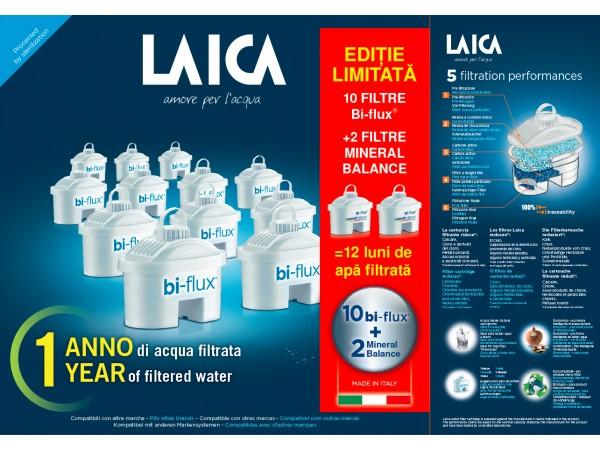 Pachet 10 cartuse filtrante Bi-flux + 2 Mineral Balance