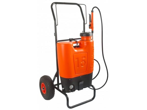 Pompa tip rucsac ELECTRO 15 litri, Li-ION cu carucior