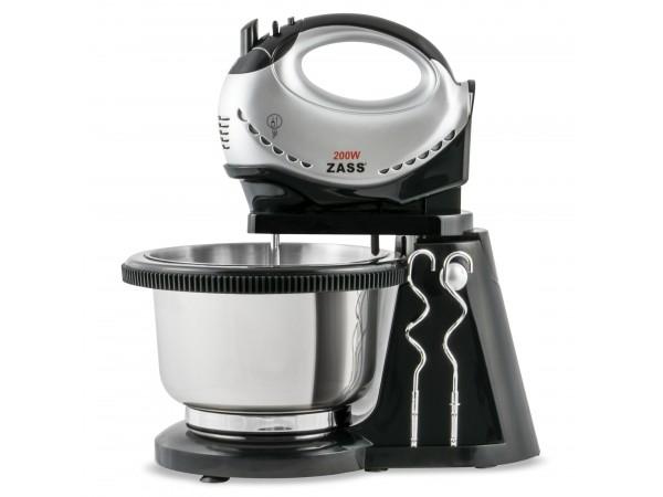 Mixer de mana cu bol din inox rotativ ZHM 05BS